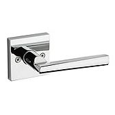 Montreal Door Levers, Polished Chrome 157MRL SQT 26 | Kwikset Door Hardware