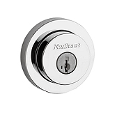 Milan Round Single Cylinder Deadbolt Deadbolts, Polished Chrome 158 RDT 26 SMT | Kwikset Door Hardware