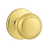 Cove Passage/Hall/Closet Door Knobs, Polished Brass 200CV 3 | Kwikset Door Hardware