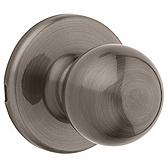 Polo Passage/Hall/Closet Door Knobs, Antique Nickel 200P 15A | Kwikset Door Hardware