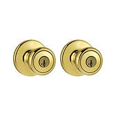 Tylo Knobs Combo Pack  , Polished Brass 243T 3 | Kwikset Door Hardware