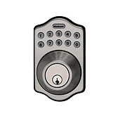 264 Traditional Deadbolt , Satin Nickel 264 TRL 15 | Kwikset Door Hardware