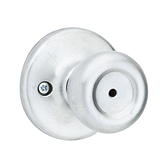 Mobile Home Knob  , Satin Chrome 300M 26D | Kwikset Door Hardware