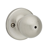 Polo Privacy/Bed/Bath Door Knobs, Satin Nickel 300P 15 | Kwikset Door Hardware