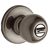 Polo Privacy/Bed/Bath Door Knobs, Antique Nickel 300P 15A | Kwikset Door Hardware