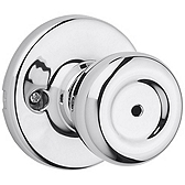 Tylo Privacy/Bed/Bath Door Knobs, Polished Chrome 300T 26 | Kwikset Door Hardware