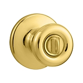 Tylo Door Knobs, Polished Brass 300T 3 | Kwikset Door Hardware