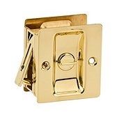 Pocket Door Lock , Polished Brass 333 3 | Kwikset Door Hardware