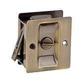 Pocket Door Lock  , Antique Brass 333 5 | Kwikset Door Hardware