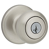 Cove Keyed Entry Door Knobs, Satin Nickel 400CV 15 SMT | Kwikset Door Hardware