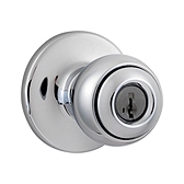 Polo Keyed Entry Door Knobs, Polished Chrome 400P 26 SMT | Kwikset Door Hardware