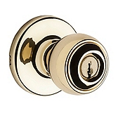 Polo Keyed Entry Door Knobs, Polished Brass 400P 3 | Kwikset Door Hardware