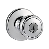 Tylo Keyed Entry Door Knobs, Polished Chrome 400T 26 SMT | Kwikset Door Hardware
