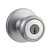 Tylo Keyed Entry Door Knobs, Satin Chrome 400T 26D | Kwikset Door Hardware