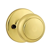 Cove Inactive/Dummy Door Knobs, Polished Brass 488CV 3 | Kwikset Door Hardware