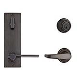 Contemporary Metal Interconnect With Kingston and Ladera Lever Light Commercial, Venetian Bronze 508KNLXLRL RH 11P SMT | Kwikset Door Hardware