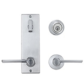 Contemporary Metal Interconnect With Ladera Lever Light Commercial, Satin Chrome 508LRLXLRL LH 26D SMT | Kwikset Door Hardware