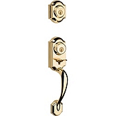 Montara Single Cylinder Handlesets, Polished Brass 553MNH LIP 3 SMT | Kwikset Door Hardware