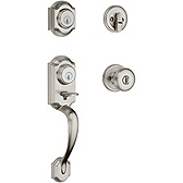 Montara Single Cylinder Handlesets, Satin Nickel 553MNHXJ 15 SMT | Kwikset Door Hardware