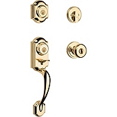 Montara Single Cylinder Handlesets, Polished Brass 553MNHXJ 3 SMT | Kwikset Door Hardware