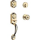 Montara Handlesets, Polished Brass 553MNHXJ 3 SMT | Kwikset Door Hardware