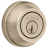 Gatelatch Deadbolts, Antique Brass 599 5 SMT | Kwikset Door Hardware