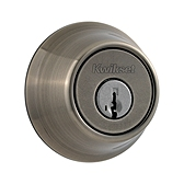 660/665 Deadbolt , Antique Nickel 665 15A SMT | Kwikset Door Hardware