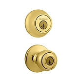 Polo Combo Pack  , Polished Brass 690P 3 | Kwikset Door Hardware