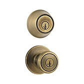 Tylo Combo Pack , Antique Brass 690T 5 | Kwikset Door Hardware