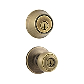 Polo Combo Pack  , Antique Brass 695P 5 | Kwikset Door Hardware