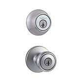 Tylo Combo Pack , Satin Chrome 695T 26D | Kwikset Door Hardware