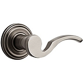 Brooklane Door Levers, Antique Nickel 720BRL 15A | Kwikset Door Hardware