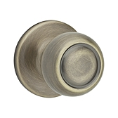 Copa Passage/Hall/Closet Door Knobs, Antique Brass 720C 5 | Kwikset Door Hardware