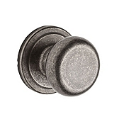 Hancock Passage/Hall/Closet Door Knobs, Rustic Pewter 720H 502 | Kwikset Door Hardware