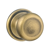 Juno Passage/Hall/Closet Door Knobs, Antique Brass 720J 5 | Kwikset Door Hardware