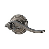 Avalon Door Levers, Rustic Pewter 730AVL 502 | Kwikset Door Hardware