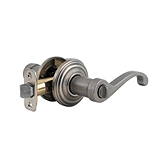 Commonwealth Privacy/Bed/Bath Door Levers, Rustic Pewter 730CHL 502 | Kwikset Door Hardware