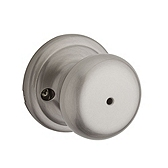 Hancock Privacy/Bed/Bath Door Knobs, Satin Nickel 730H 15 | Kwikset Door Hardware