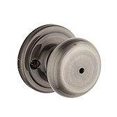 Hancock Privacy/Bed/Bath Door Knobs, Antique Nickel 730H 15A | Kwikset Door Hardware