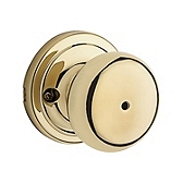 Hancock Privacy/Bed/Bath Door Knobs, Polished Brass 730H 3 | Kwikset Door Hardware