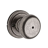 Hancock Privacy/Bed/Bath Door Knobs, Rustic Pewter 730H 502 | Kwikset Door Hardware
