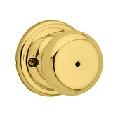 Juno Privacy/Bed/Bath Door Knobs, Polished Brass 730J 3 | Kwikset Door Hardware