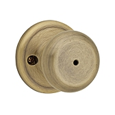 Juno Privacy/Bed/Bath Door Knobs, Antique Brass 730J 5 | Kwikset Door Hardware