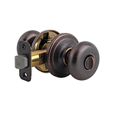 Juno Privacy/Bed/Bath Door Knobs, Rustic Bronze 730J 501 | Kwikset Door Hardware