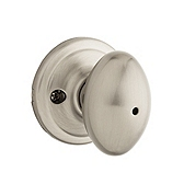 Laurel Privacy/Bed/Bath Door Knobs, Satin Nickel 730L 15 | Kwikset Door Hardware