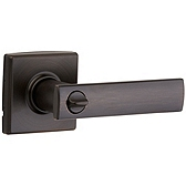 Vedani Privacy/Bed/Bath Door Levers, Venetian Bronze 730VDL 11P | Kwikset Door Hardware