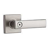 Vedani Privacy/Bed/Bath Door Levers, Satin Nickel 730VDL 15 | Kwikset Door Hardware