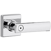Vedani Privacy/Bed/Bath Door Levers, Polished Chrome 730VDL 26 | Kwikset Door Hardware
