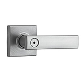Vedani Privacy/Bed/Bath Door Levers, Satin Chrome 730VDL 26D | Kwikset Door Hardware