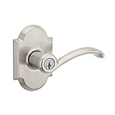 Austin Keyed Entry Door Levers, Satin Nickel 740AUL 15 | Kwikset Door Hardware